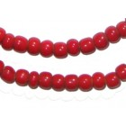 Red White Heart Beads (Cornaline D'Aleppo)